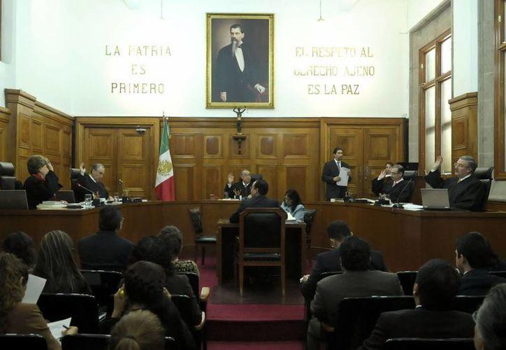 La mayoría de los ministros apoyaron el proyecto de su homólogo Luis María Aguilar. (Archivo/Notimex)