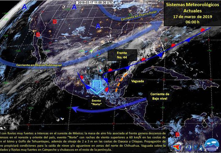 La presencia de una vaguada es posible en la zona. (Servicio Meteorológico Nacional)