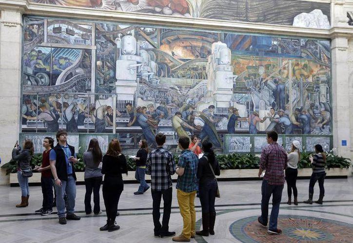 En Detroit Frida definió su estilo y encontró su voz. Diego creó lo que consideraba era su mayor obra, según destaca el Instituto de Artes de Detroit. Míchigan. (AP)