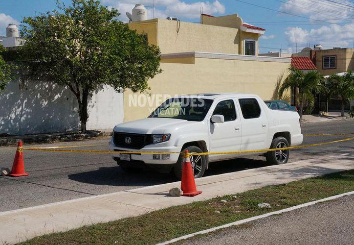 La camioneta que pensaban robar. (Novedades Yucatán)