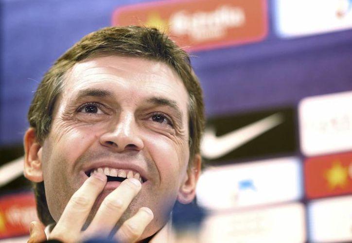 'Me gustaría que no hubiera divisiones', afirmó Vilanova. (EFE)