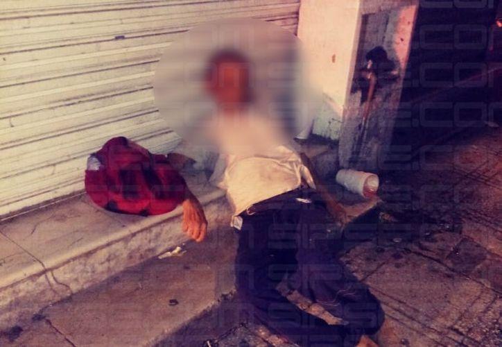 El cuerpo fue hallado en la calle 69 por 56. (SIPSE)