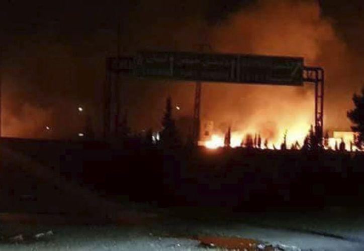 La base iraní en el área ya fue objetivo dos veces este año de ataques israelíes. (AP)