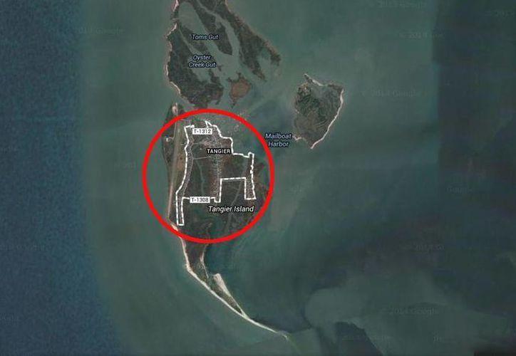 Tangier, con un área de menos de dos kilómetros cuadrados, es el hogar de más de 500 personas. (www.google.com.mx/maps)