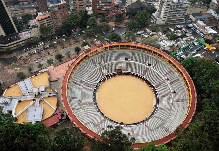 Vista de la plaza de toros de la Santa María, en Bogotá, que este domingo reabrirá sus puertas. (Foto: AFP)
