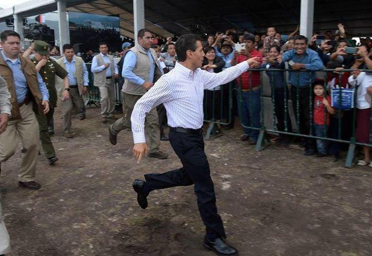 Peña Nieto acudió al estado de Hidalgo para inaugurar el Centro de Acopio de Leche Liconsa. (Facebook/Enrique Peña Nieto)