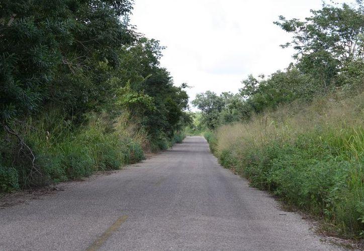Los caminos solitarios y oscuros se vuelven una pesadilla para los habitantes, quienes aseguran que hay fantasmas y duendes que los vigilan. (Enrique Mena/SIPSE)