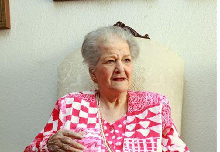 Carmen Montejo tuvo una recaída de su afección respiratoria. (Agencia Reforma)