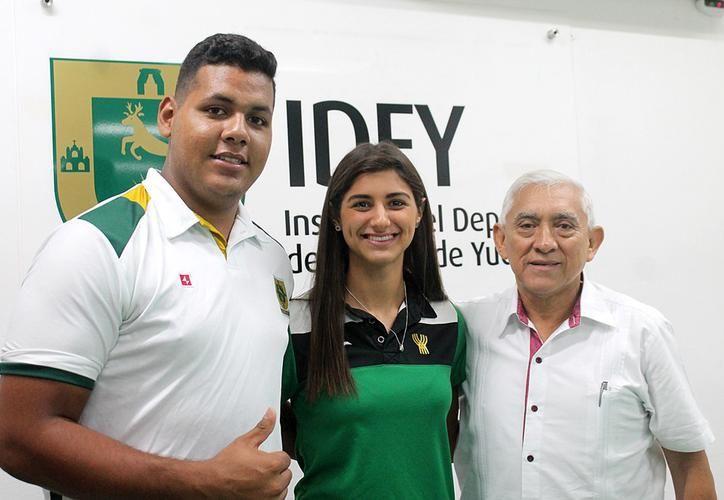 Claudina Díaz Castro y José Manuel López Soto, son parte de la comitiva mexicana. (SIPSE)