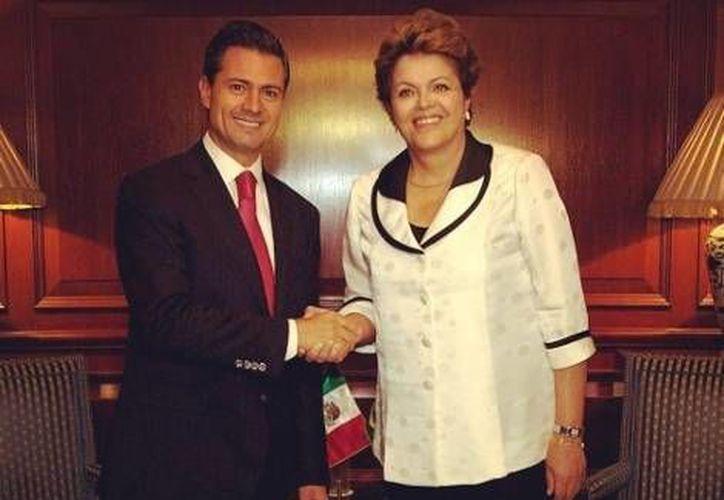 Peña Nieto se reunió con mandatarios de América y Europa, entre ellos Dilma Roussef, presidenta de Brasil. (Milenio)