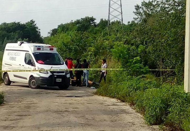 El cuerpo fue hallado en un área verde, a la orilla de un camino de terracería. (Redacción)