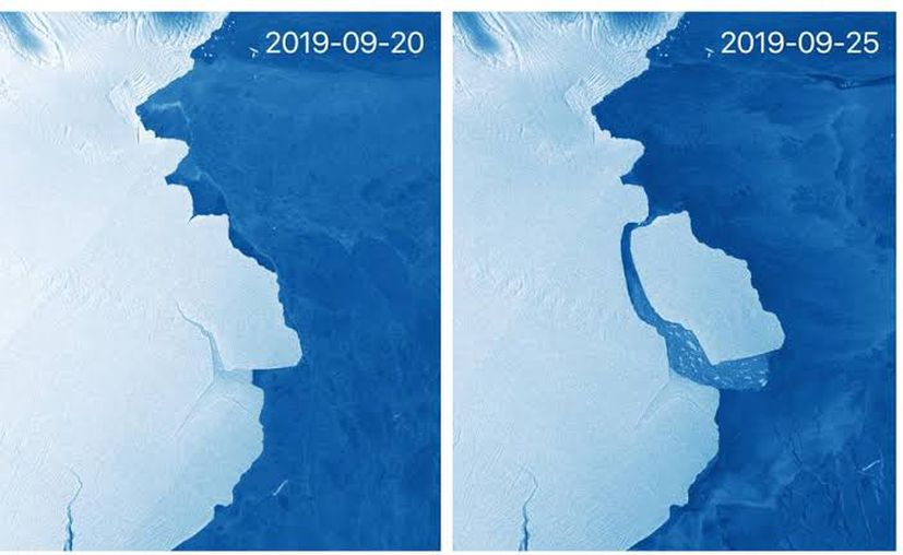 Amery es la tercera plataforma de hielo más grande de la Antártida. Foto: AP