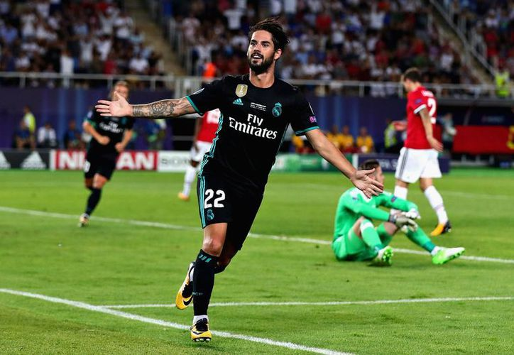 El Real Madrid venció 2-1 al Manchester United. (Twitter/@LigadeCampeones).