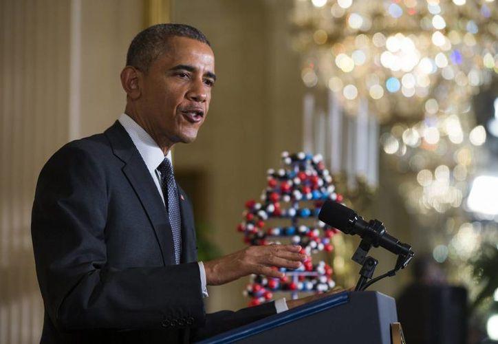 El presidente estadounidense, Barack Obama, en una rueda de prensa en la Casa Blanca, Washington, EU. (EFE)