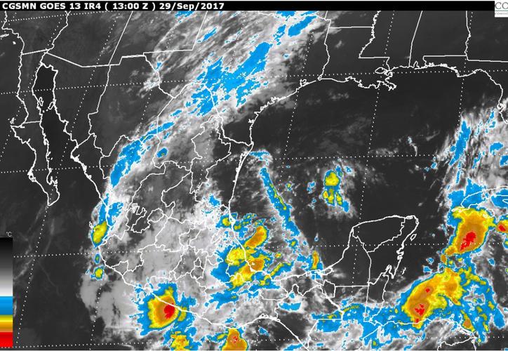 Se espera un cielo nublado con 80% de probabilidad de tormentas muy fuertes con puntuales intensas (Conagua)