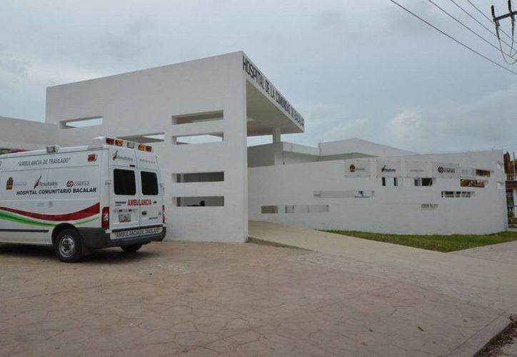 El Hospital Comunitario de Bacalar da servicio a la población de 57 comunidades del municipio. (Cortesía)