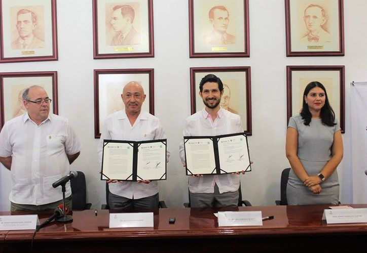 El IYEM y la UADY signaron un convenio de colaboración para proyectos de interés mutuo. (Novedades Yucatán)