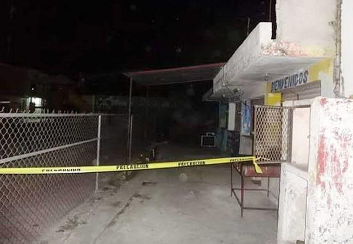Imagen del lugar donde un niño de 9 años murió electrocutado en la villa de Acanceh, Yucatán. (Milenio Novedades)