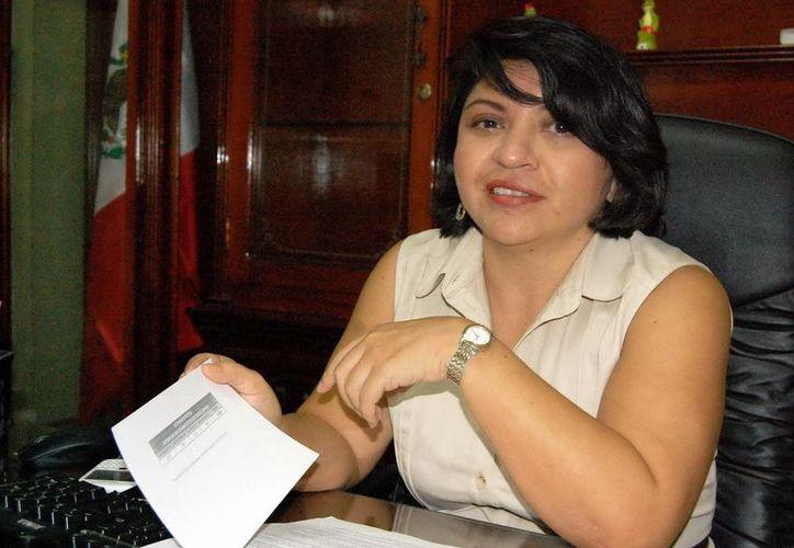 La directora del Registro Civil, Martha Góngora Sánchez. (Milenio Novedades)