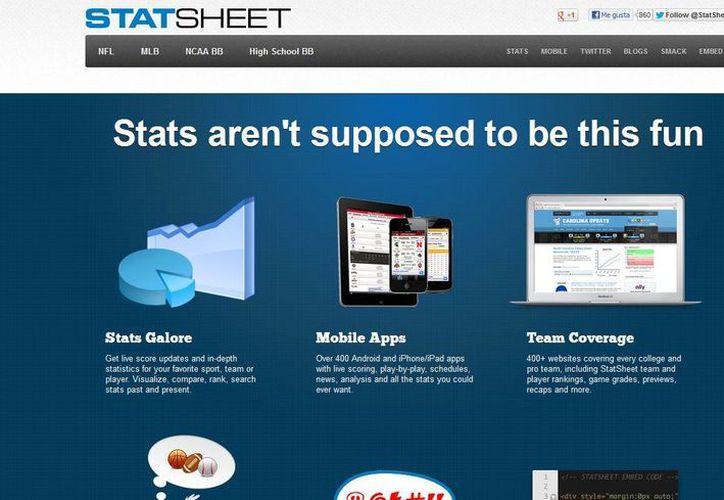 """Un caso destacado es StatSheet funciona gracias a un algoritmo que selecciona los materiales """"neutralmente"""". (statsheet.com)"""