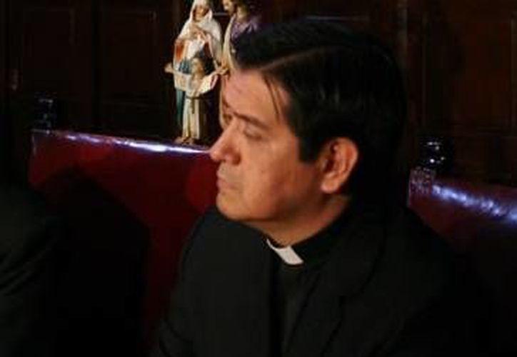 Entre los religiosos que han sido víctimas de extorsiones está el  vicerrector del Seminario Conciliar de México, de acuerdo a Hugo Valdemar Romero (foto), vocero de la Arquidiócesis de México. (Agencias/Foto de archivo)