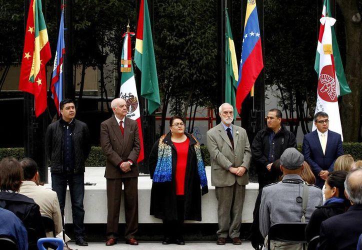 En la ceremonia participaron el secretario general y presidente del consejo de la Opanal, Luiz Filipe de Macedo Soares y Patricio López Araujo. (Notimex)