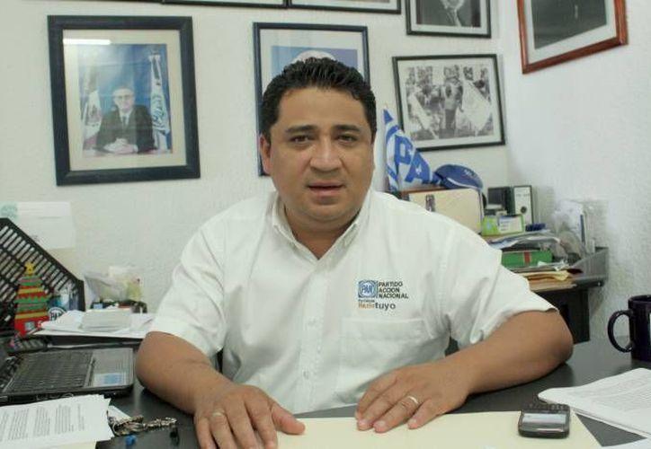 Eduardo Martínez Arcila, presidente del Partido Acción Nacional (PAN) en el estado, señaló que confía en que finalmente se echará para atrás la reforma. (Redacción/SIPSE)