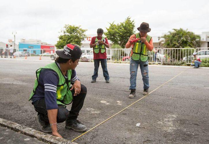 Inicio de los trabajos en Paseo de Montejo. (Cortesía)