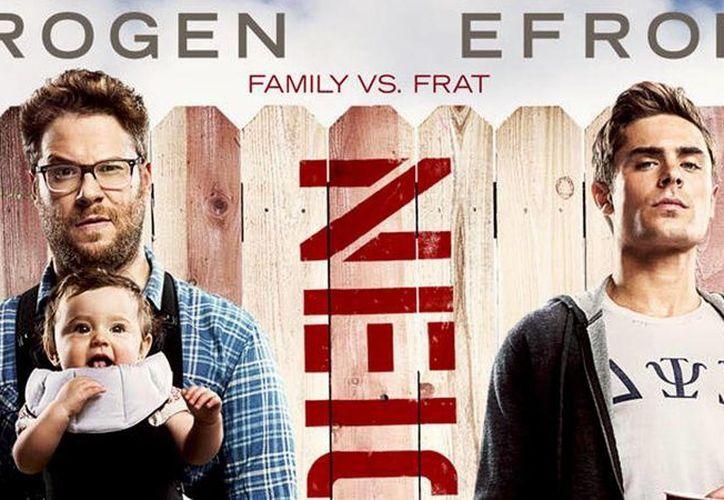 Neighbors (Vecinos) es protagonizada por Seth Rogen y Zac Efron. Debutó con 51 millones de dólares en boletos vendidos en EU. (Milenio Novedades)