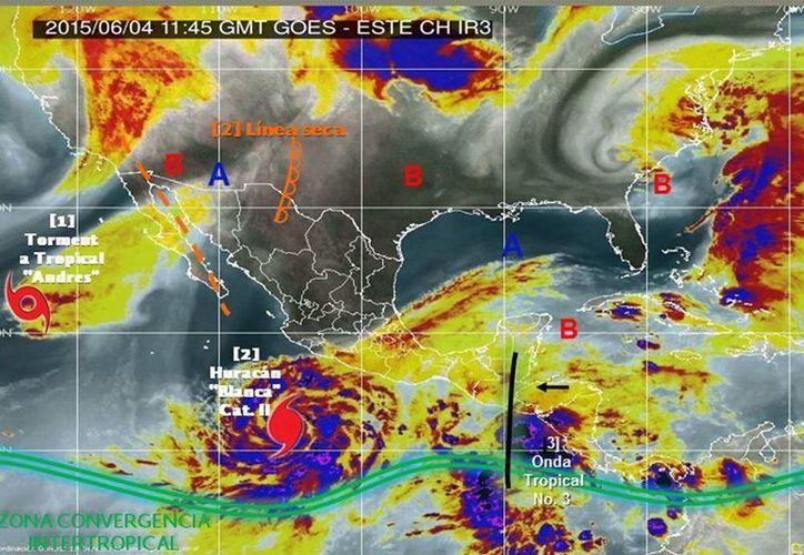 El huracán Blanca podría impactar pero como tormenta tropical a Baja California Sur y no directamente a la zona de San José del Cabo o Los Cabos. (cna.gob.mx)