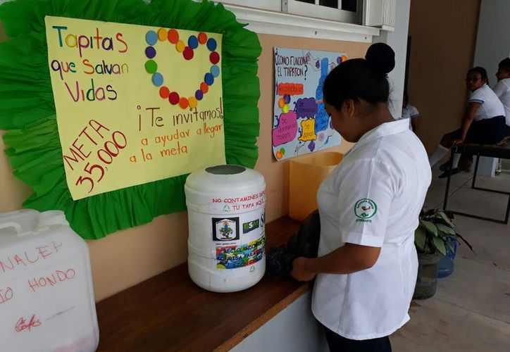 En la actividad 'Recicla y regala una nueva vida' también participa el ingenio San Rafael de Pucté, el Grupo Beta San Miguel y la Sociedad Organizada de Socorristas. (Carlos Castillo/SIPSE)