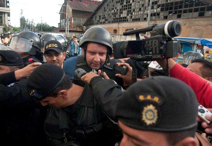 Roberto Barreda de León es llevado al Centro Preventivo para Varones, en la capital de Guatemala. (Milenio Novedades)