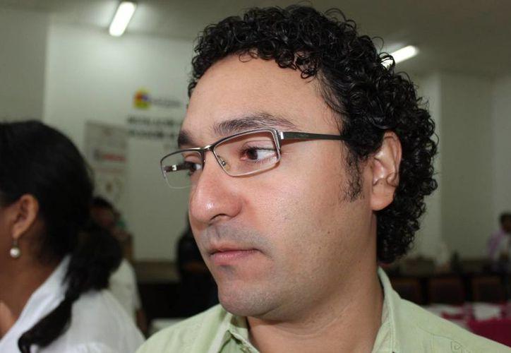 Juan Manuel Pérez Alpuche ofreció las estadísticas de las quejas. (Adrián Barreto/SIPSE)