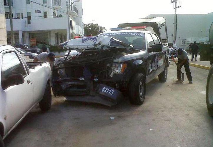 A causa de la persecución la policía se impactó contra un auto que pasaba por el lugar. (Foto de contexto/Archivo SIPSE)