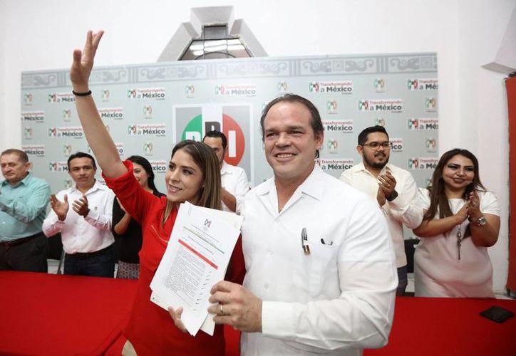 Jorge Esquivel Millet ocupará la presidencia del comité municipal del Partido Revolucionario Institucional en Mérida. (Fotos cortesía del PRI)