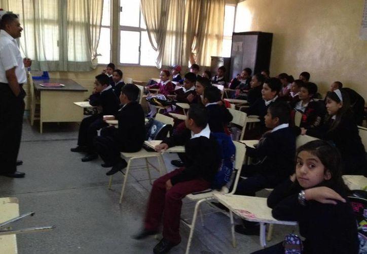 Las escuelas están en la libertad de suspender las actividades educativas por seguridad. (Notimex)
