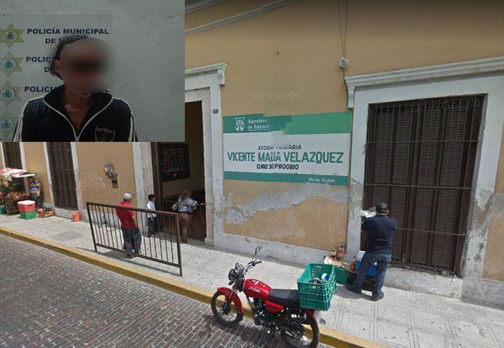 El ladrón ingreso a una escuela ubicada  en la calle 64 entre 71 y 73, donde fue detenido. (Milenio Novedades)