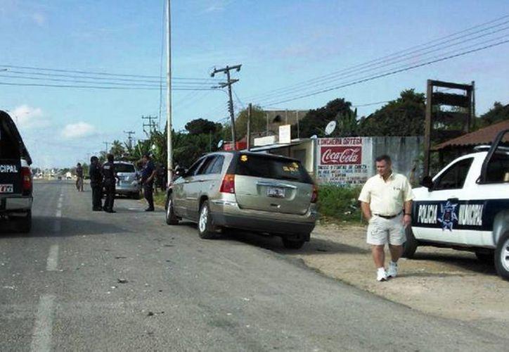 La Policía Municipal Preventiva detuvo a 'El Gato' por toxicómano y vagancia y lo puso a disposición del Juez Calificador. (Javier Ortiz/SIPSE)
