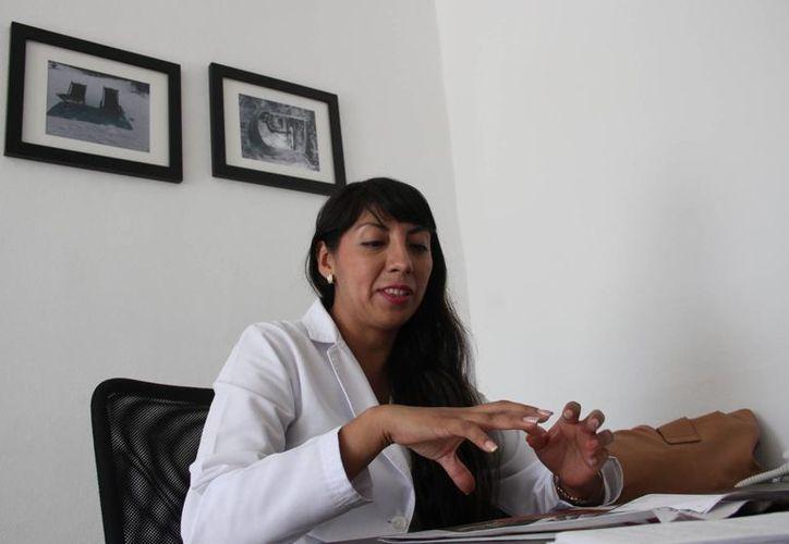 Verónica Vicente Vargas, algóloga. (Consuelo Javier/SIPSE)
