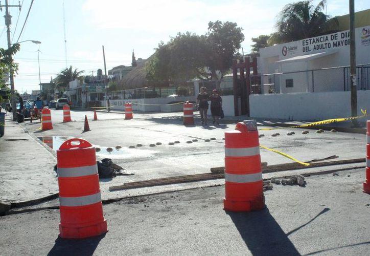 La Dirección de Obras Públicas de Solidaridad pretende concluir las obras de repavimentación antes de que finalice este año. (Daniel Pacheco/SIPSE)