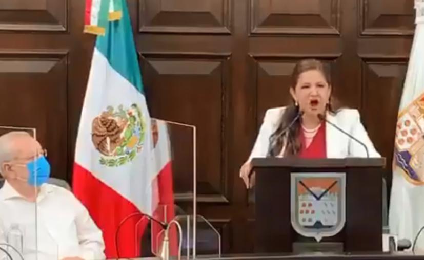 La alcaldesa de Hermosillo, Célida López. (Captura de pantalla)