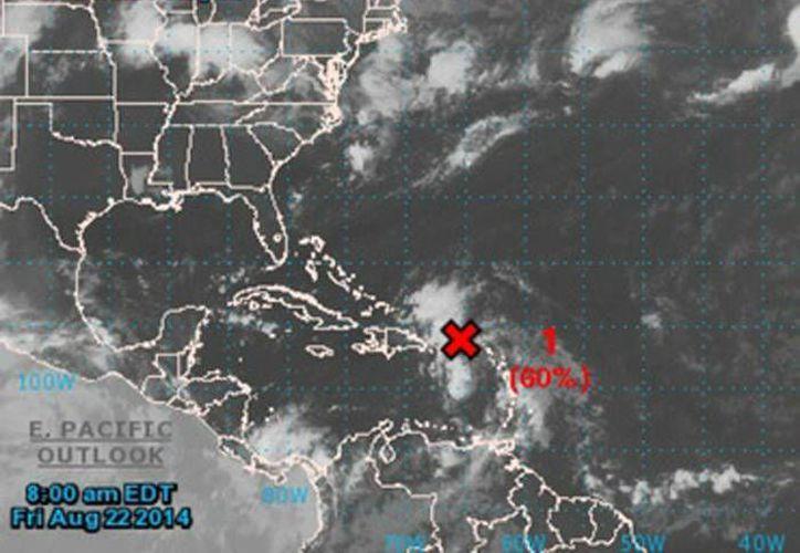 Imagen del CNH que muestra el sistema. De llegar a ser depresión tropical y luego en tormenta tropical se llamaría ''Cristóbal''. (Especial/informador.com.mx)