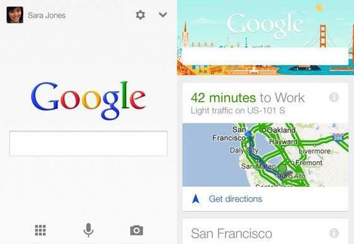 La tecnología accede a varios servicios en línea de Google. (apple.com)
