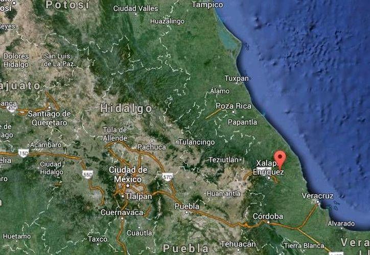 La aeronave accidentada en Alto Lucero viajaba de Tamaulipas al puerto de Veracruz. (Google Maps)