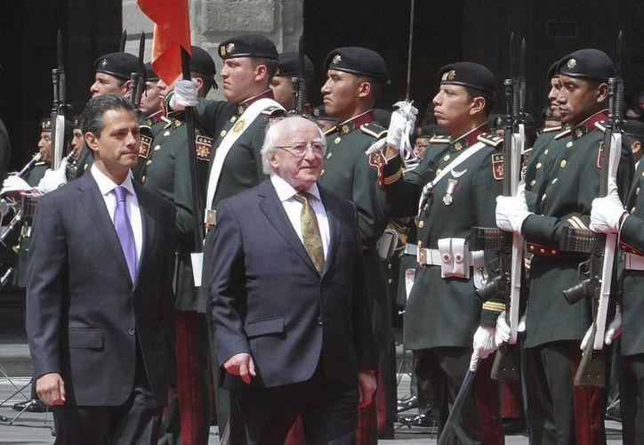 Se prevé la firma de ocho documentos que involucran a los presidentes de México e Irlanda. (Notimex)