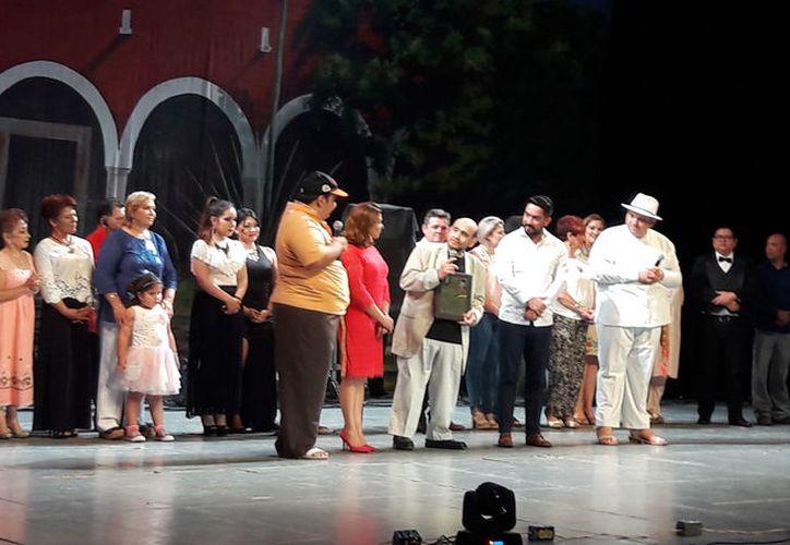 Edgar Vivar estuvo en la celebración de Dzereco y Nohoch, en el teatro Armando Manzanero. (Milenio Novedades)