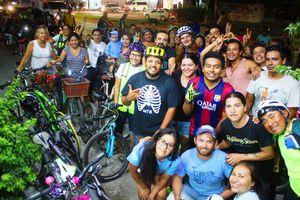 Festejan el Día Internacional de la Bicicleta en la Riviera Maya