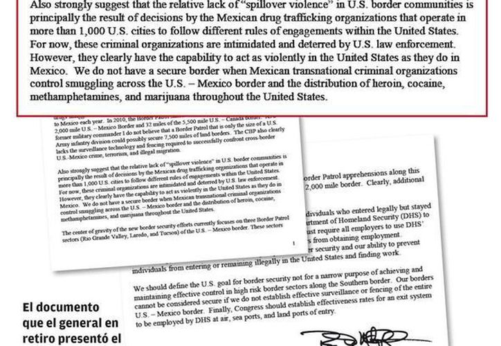 Este es el documento que McCaffrey presentó el 18 de abril acerca de la capacidad del narco mexicano.