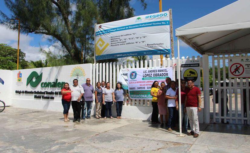El paro nacional fue convocado por la Federación Nacional de Sindicatos Académicos del Conalep. (Paola Chiomante/SIPSE)