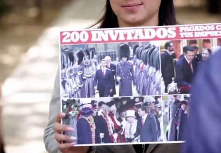 INE ordenó retirar el spot donde el PAN habla del viaje a Reino Unido de Enrique Peña Nieto. (Captura de pantalla)